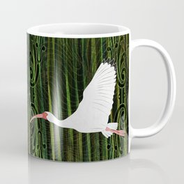 American White Ibis In Flight Coffee Mug