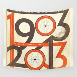100 Years of The Tour de France Wall Tapestry