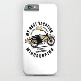 Surfing Best Vacation iPhone Case