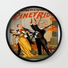 Vintage poster - At Piney Ridge Wall Clock