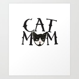 Cat Mom Art Print