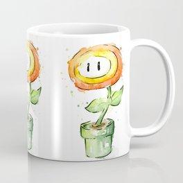 Fireflower Watercolor Painting Coffee Mug