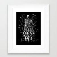 bondage Framed Art Prints featuring Cruel bondage by sebrodbrick
