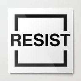 Resist 1 Metal Print