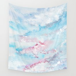 Pink and Blue Clouds . Sky Wall Tapestry