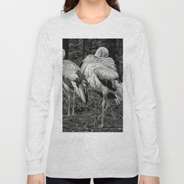 Black And White Storks Long Sleeve T-shirt