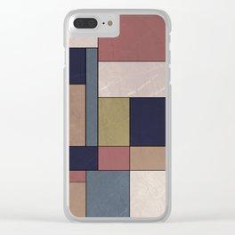 Abstract #840 Clear iPhone Case