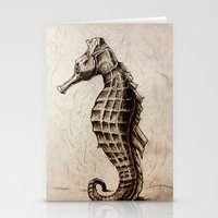 seahorse Stationery Cards featuring Seahorse by Werk of Art