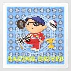 Racing Driver Art Print