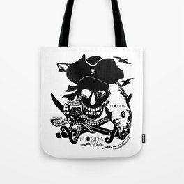 Octopus v Florida Pirate Tote Bag
