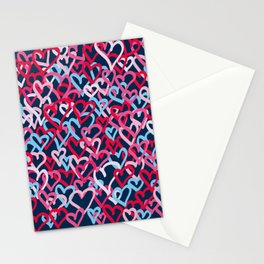 Colorful  Hearts - Graffiti Style Stationery Cards