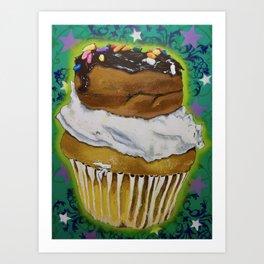 DonutCupcake Art Print