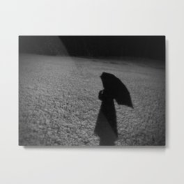 Snow Silhouette Metal Print