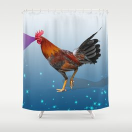 The Cock Shower Curtain