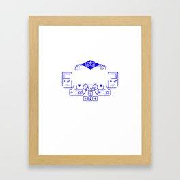 Level 9 Complete Birthday Video Gamer print Framed Art Print