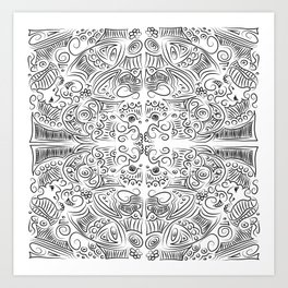 Illustration b&w Art Print