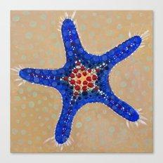 Sea Star Blue Canvas Print