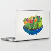 succulents Laptop & iPad Skins featuring Succulents by Cat Coquillette