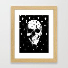 After Market, gothic skull Framed Art Print