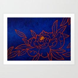 Amber Peony Art Print