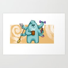 Multitasking Monster Art Print