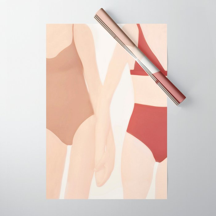Holding Hands Wrapping Paper
