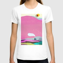 The Little House under the Pink Mountain T-shirt