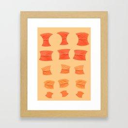 Leaf Bytes Framed Art Print