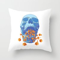 psychology Throw Pillows featuring Reverse Psychology  by Rhysher Park