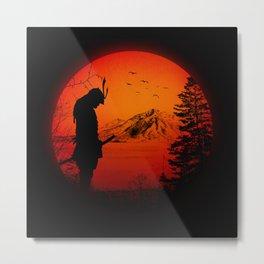 My Love Japan / Samurai warrior Metal Print