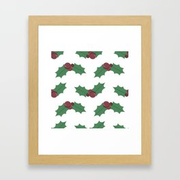 Mistletoe pattern Framed Art Print