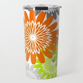 Warm Flower Stencils Travel Mug