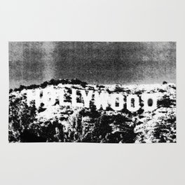 Retro Hipster Hollywood Sign Rug