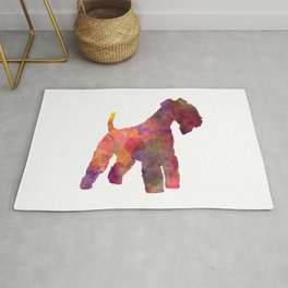 Lakeland Terrier in watercolor Rug