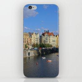 Sunny Day in Prague - View from Legion Bridge iPhone Skin