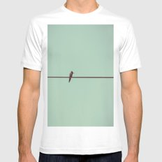 On the Wire Mens Fitted Tee White MEDIUM