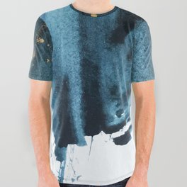 Sapphire and Gold Abstract All Over Graphic Tee