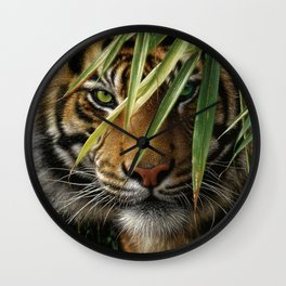 Tiger - Emerald Forest Wall Clock