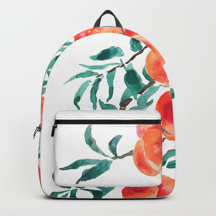 peach watercolor Backpack