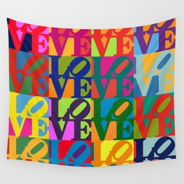 Love Pop Art Wall Tapestry