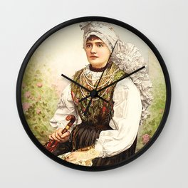 Romanian Gypsy girl Wall Clock