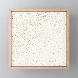 Falling Stars - Metallic Gold Framed Mini Art Print