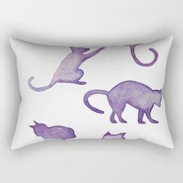 Watercolor galaxy cats design Rectangular Pillow