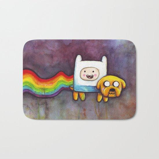 Nyan Time with Jake and Finn Bath Mat