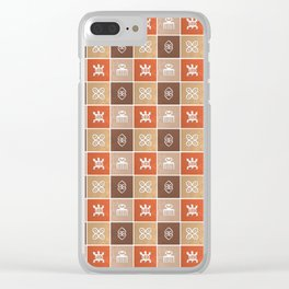 Ethnic african pattern with Adinkra simbols Clear iPhone Case