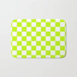 Checker (Lime/White) Bath Mat