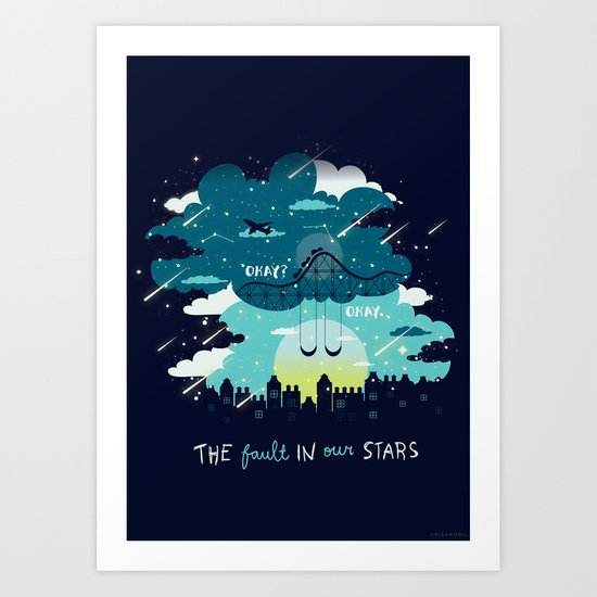 Stars and Constellations Art Print