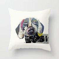 dachshund Throw Pillows featuring dachshund  by bri.buckley