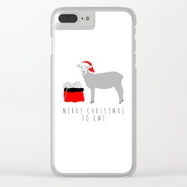 Merry Christmas to Ewe Clear iPhone Case