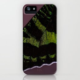 I dreamed I was a butterfly, flitting around in the sky; then I awoke. iPhone Case